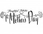 Thoughtful Tributes For Mother's Day - Ad Banner - Retro Clipart