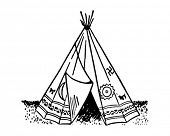 Teepee - Retro Ad Art Illustration