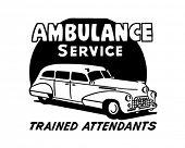 Ambulance Service - Retro Ad Art Banner