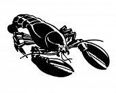 Lobster - Retro Ad Art Illustration