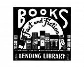O fato de livros e ficção - Ad Retro arte Banner