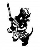 stock photo of scottie dog  - Dancing Scottie  - JPG