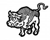 stock photo of brahma-bull  - Angry Bull  - JPG