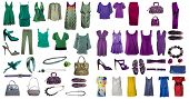 Collection of icons of clothes and accessories for the Internet of sites