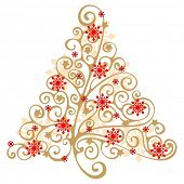 stock photo of xmas tree  - Christmas tree - JPG