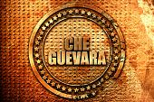 che guevara, 3D rendering, metal text poster