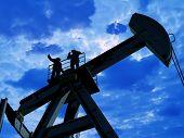 Técnica para o óleo em uma paisagem.