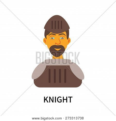 Knight Icon Isolated On White