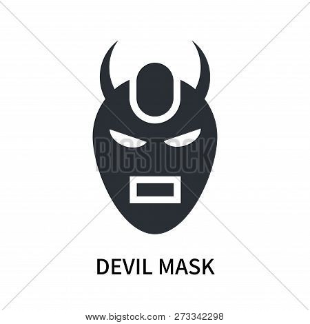Devil Mask Icon Isolated On