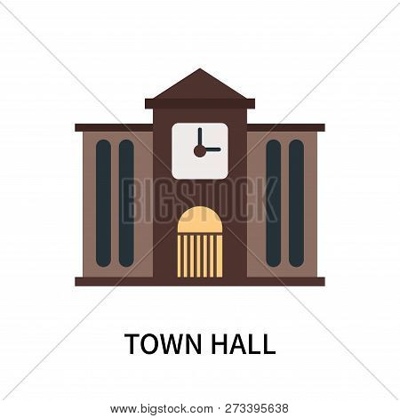 poster of Town Hall Icon Isolated On White Background. Town Hall Icon Simple Sign. Town Hall Icon Trendy And M