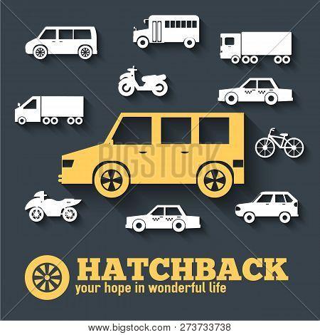 Flat Hatchback Car Concept Set