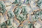 Swedish hundred kronor bills background