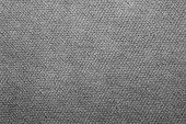 Gray Texture Of Fabric.grey Braided Fabric Background. poster
