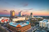 Raleigh, North Carolina, USA downtown city skyline. poster