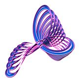 Blue And Pink Twisted Abstract Design