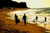 Silhouette Beach Walk