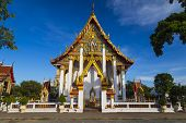 Ancient Temple Wat Chalong, Island Phuket - Largest And Most Revered Temple . Thailand . View Outsid poster