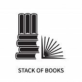 Stack Of Books Icon Isolated On White Background. Stack Of Books Icon Simple Sign. Stack Of Books Ic poster