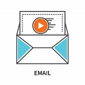 Email Icon Isolated On White Background. Email Icon Simple Sign. Email Icon Trendy And Modern Symbol poster