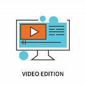 Video Edition Icon Isolated On White Background. Video Edition Icon Simple Sign. Video Edition Icon  poster