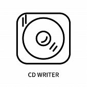 Cd Writer Icon Isolated On White Background. Cd Writer Icon Simple Sign. Cd Writer Icon Trendy And M poster
