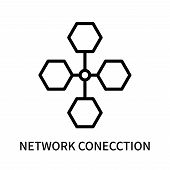 Network Conecction Icon Isolated On White Background. Network Conecction Icon Simple Sign. Network C poster