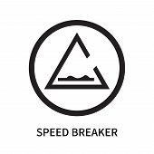 Speed Breaker Icon Isolated On White Background. Speed Breaker Icon Simple Sign. Speed Breaker Icon  poster