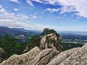 Hight Mountain Peak. Seoraksan National Park. South Korea poster