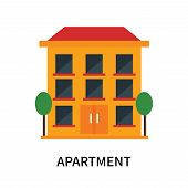 Apartment Icon Isolated On White Background. Apartment Icon Simple Sign. Apartment Icon Trendy And M poster