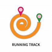 Running Track Icon Isolated On White Background. Running Track Icon Simple Sign. Running Track Icon  poster