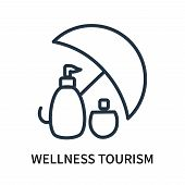 Wellness Tourism Icon Isolated On White Background. Wellness Tourism Icon Simple Sign. Wellness Tour poster