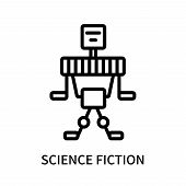 Science Fiction Icon Isolated On White Background. Science Fiction Icon Simple Sign. Science Fiction poster