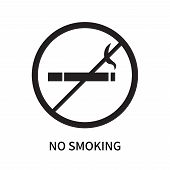 No Smoking Icon Isolated On White Background. No Smoking Icon Simple Sign. No Smoking Icon Trendy An poster