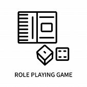 Role Playing Game Icon Isolated On White Background. Role Playing Game Icon Simple Sign. Role Playin poster