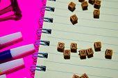 Grammar. Motivation Message Written On Wooden Blocks. Cross Processed Image poster