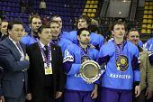 Kazakhstan Team - The Winner Of Iihf Ice-hockey World Championship Div I