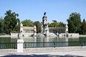The Monument In Retiro Park, Madrid. poster