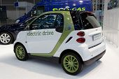 VALENCIA, SPAIN - DECEMBER 5: A 2012 Smart Electric Drive Micro Car on display at the 2011 Valencia