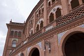 A Side Of Madrid's Bullfight Arena