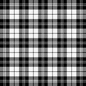 Christmas And New Year Tartan Plaid. Scottish Pattern In Black And White Cage. Scottish Cage. Tradit poster