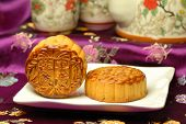 Chinese famous food--Mooncakes,which are Chinese pastries traditionally eaten during the Mid-Autumn