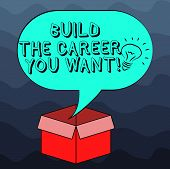Writing Note Showing Build The Career You Want. Business Photo Showcasing Prepare Yourself For Your  poster