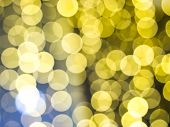 Gold Abstract Background With Bokeh Defocused Lights. Soft Blurred Yellow And Gold Bokeh Background, poster