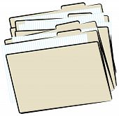 File Folder Piled Up