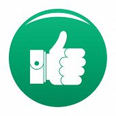 Hand Excellent Icon. Simple Illustration Of Hand Excellent Icon For Any Design Green poster