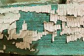 Old Wooden Texture With Peeling Paint , Old Wooden Background With Remains Of Pieces Of Scraps Of Ol poster