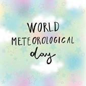 Greeting Card Of The World Meteorological Day poster
