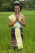 Girl At The Rice Field, Thailand