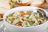 Chicken Noodle Soup Closeup