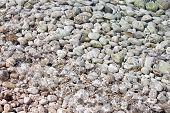 Piedras con agua transparente